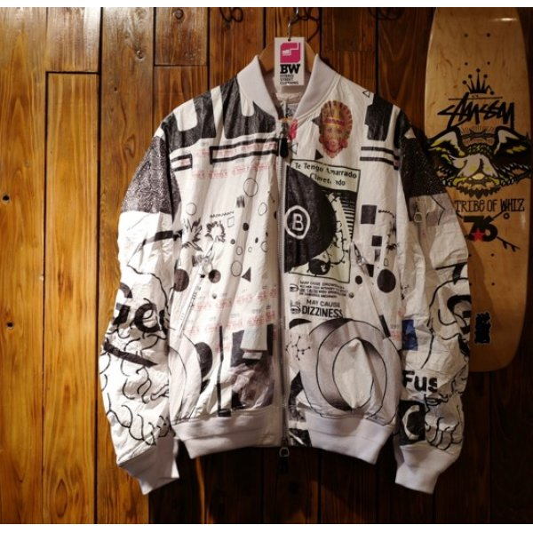 画像1: CO TEX PAPER BOMBER JACKET