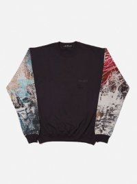 COLOR BLOCK CREW SWEAT SHIRT